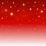 Starry light background on red Stock Image