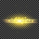 Starry Light Background. Yellow Glowing Lines. Speed Motion Effect. Sparcle Glitter Trail Stock Photos