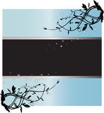 Starry Light Blue Text Frame Royalty Free Stock Images