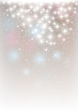 Starry lights. On silver background Stock Images