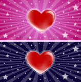 Starry love heart background Stock Photo