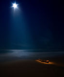 Starry moon sea Royalty Free Stock Photos