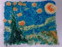 Starry starry natt arkivbilder