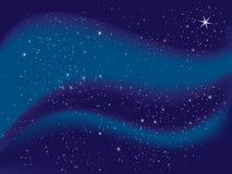 starry natt Arkivfoto