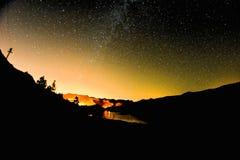 starry nattsky Arkivfoton