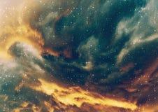 Starry nebula clouds royalty free stock photography