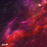 Starry Nebula. Outer Space background. Vector illustration. Stock Photos