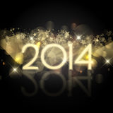 Starry New Year background Royalty Free Stock Photo