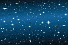 Starry Night. Nighttime sky filled with sparkling stars Royalty Free Stock Photos