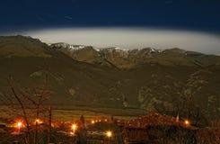 Starry night. In Vasil Levski village in Bulgaria Stock Photo
