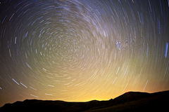 Starry night. A long exposure to the starry sky Stock Photography