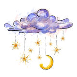 Starry night Stock Image