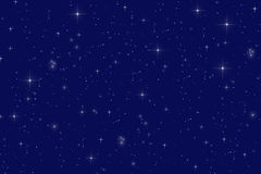 Starry night. Peaceful starry night background illustration Royalty Free Stock Images