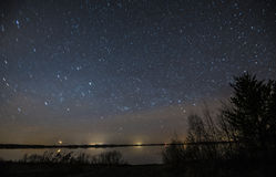 Starry Night above the Lake royalty free stock photography