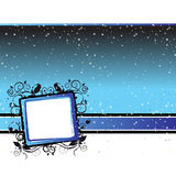 Starry night abstract frame Stock Image