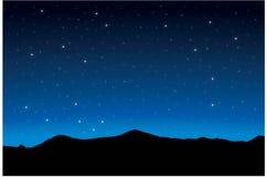 Starry night background. Glowing stars, blue background zodiac stock illustration