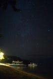 Starry Night on a beach Stock Photo