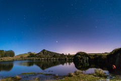 Starry Night at Cawfield Quarry Royalty Free Stock Image