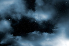 Starry night clouds Stock Image