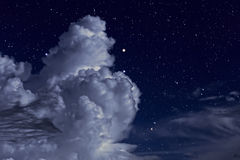 Starry night with clouds Stock Photography