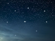 Starry night dark blue Royalty Free Stock Photos