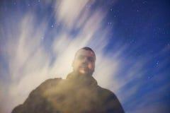 Starry night dreamy portrait Royalty Free Stock Photos