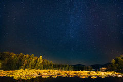 Starry night in Lake Placid Stock Photography