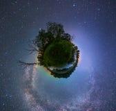 Starry night landscape royalty free stock photos