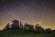 Starry night landscape of Navarra. Night photography  from Navarra Spain Royalty Free Stock Photography