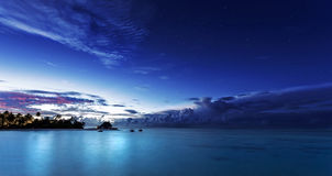 Starry night on Maldives Royalty Free Stock Photos