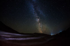 Starry night with Milky Way Stock Photography