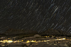 Starry night over the italian mountains Stock Photography