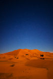 Starry Night Over Sahara Desert Dunes Stock Image