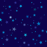 Starry Night pattern swatch Royalty Free Stock Images