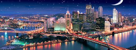Starry Night in Pittsburgh. United States royalty free stock image