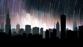 The starry night scene of the city at night. Loopable. HD The starry night scene of the city at night. Loopable stock video footage