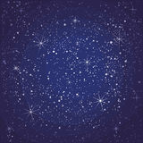 Starry night seamless pattern Royalty Free Stock Photo