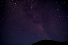 Starry night sky Stock Image
