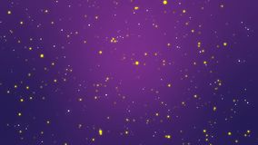 Purple night sky background with animated stars