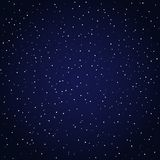 Starry night sky background. Dark blue starry night sky. Space full of stars background. Vector graphics astronomy illustration Stock Photography