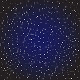 Starry night sky background. Dark blue starry night sky. Space full of stars background. Vector graphics astronomy illustration Royalty Free Stock Photography
