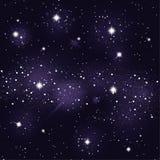 Starry night sky. Background starry sky milky way Stock Photos