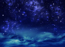 Starry night sky. Deep outer space Stock Image