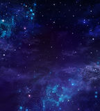 Starry night sky. Deep outer space Stock Photography