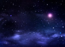 Starry night sky deep outer space Royalty Free Stock Image