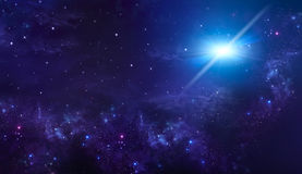 Starry night sky deep outer space Stock Photography