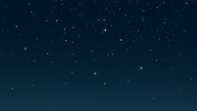 Starry night sky. Digital background raster illustration Stock Images