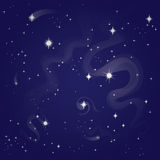Starry night sky. Illustration royalty free illustration