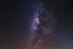 Starry night sky, milky way galaxy with stars and space dust in royalty free stock photography