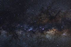 Starry night sky, Milky way galaxy with stars and space dust in. The universe, Long exposure photograph, with grain stock images